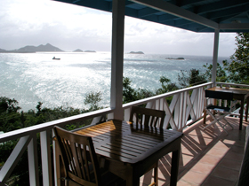 The view from the veranda at Ballyhoo