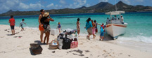 a picnic on white island near carriacou